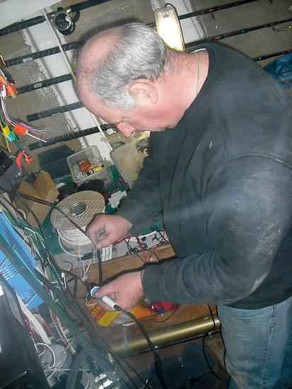Steve soldering