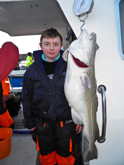 34lb Cod - new boat record for Grey Viking