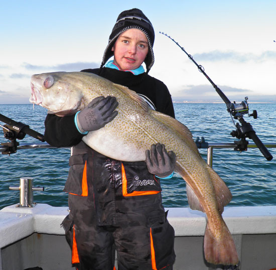34lb Cod for junior angler Tyler Hallett