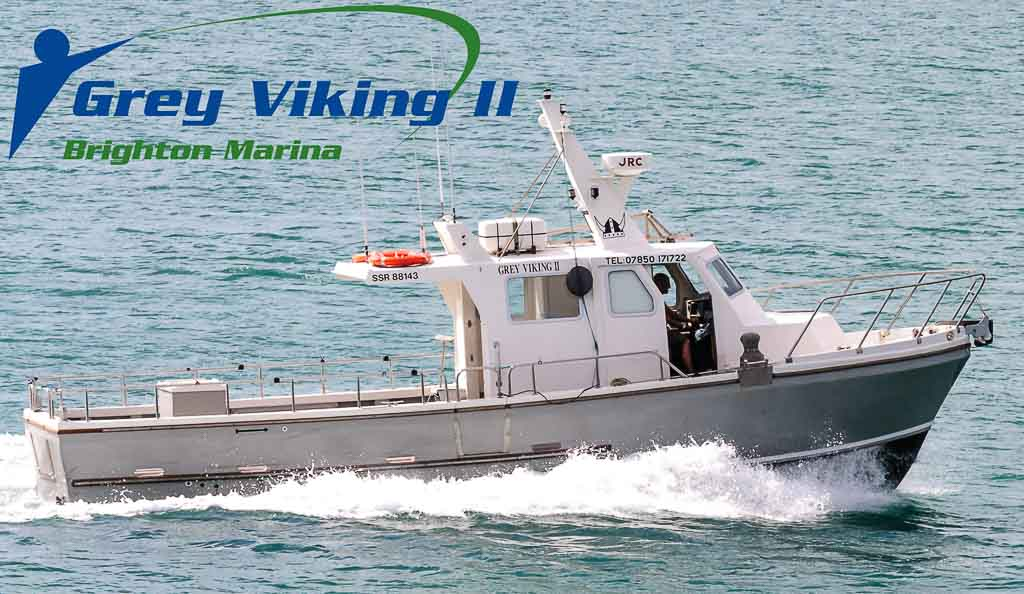 Brighton charter fishing grey viking sea fishing boat for Fishing boat trips