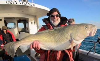 ground fishing winter Cod fishing