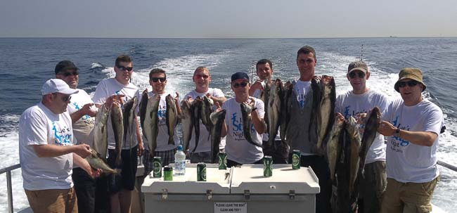 stag party fishing boat trip
